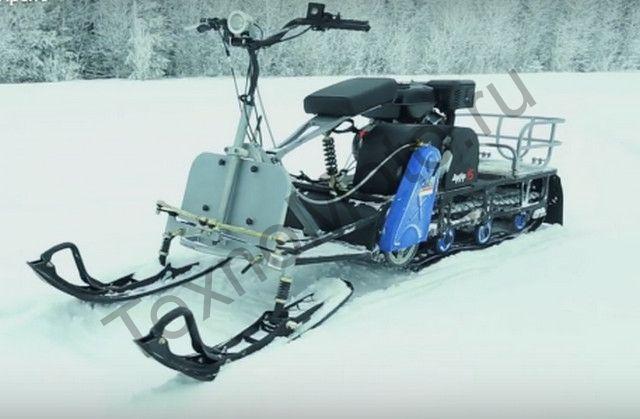 Мотобуксировщик Мухтар 7 с лыжным модулем