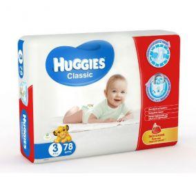 Подгузники Huggies Classic 3 (4-9 кг) 78 шт