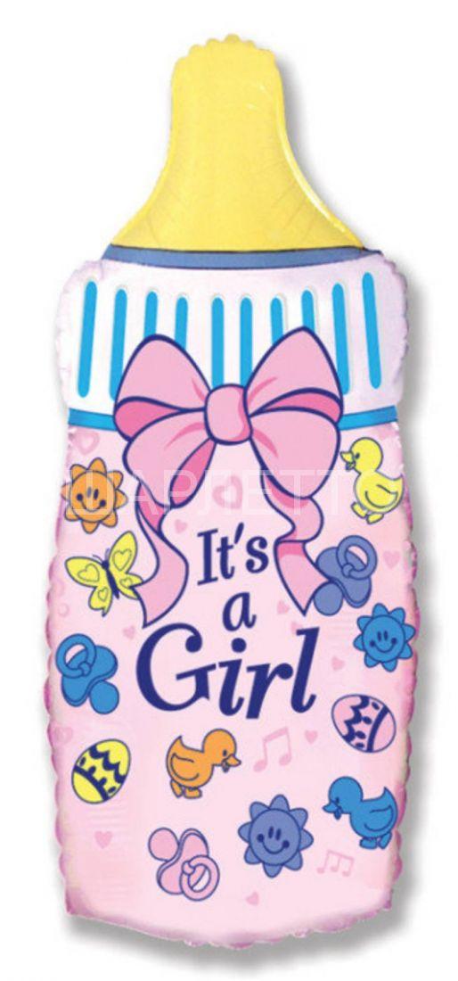 """Шар фигура """"Бутылочка It's a girl"""""""