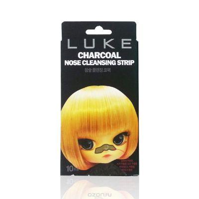 Очищающие от черных точек угольные полоски Luke Charcoal Nose Cleansing Strip 10 шт