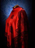 Палантин из Индии, красный. Купить в  интернет-магазине
