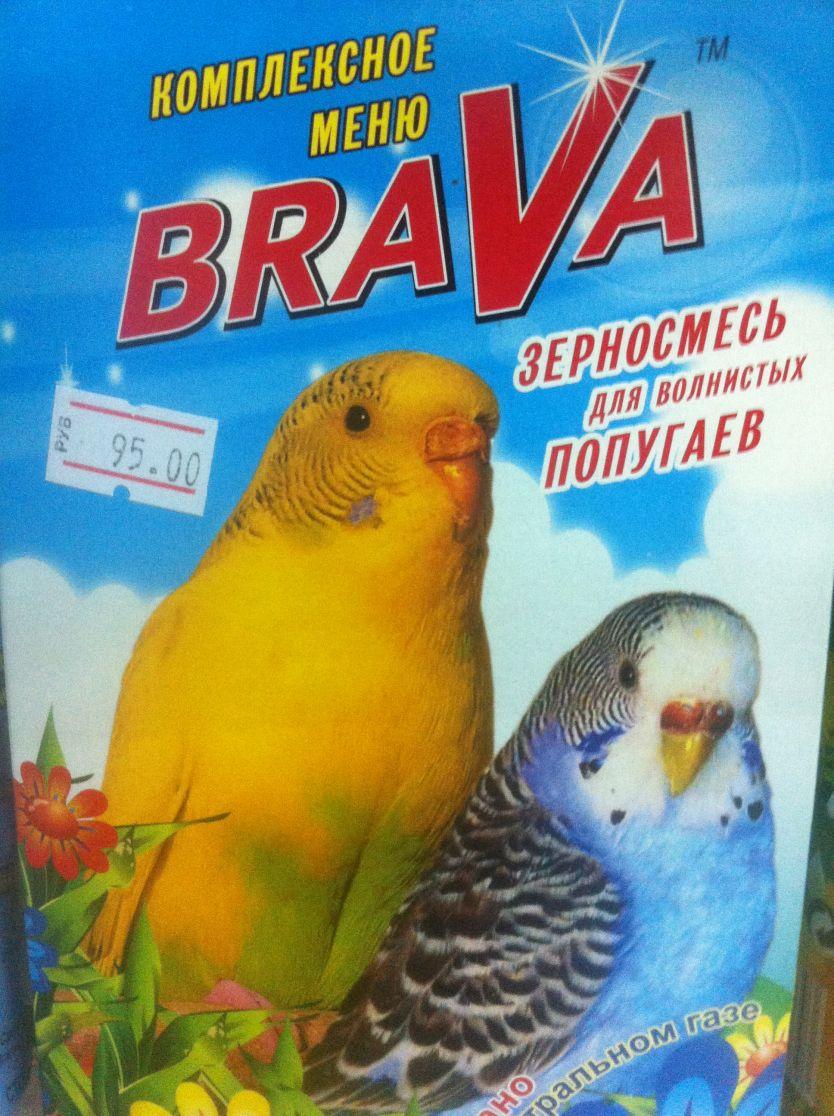 BRAVA комплексное меню, зерносмесь для волнистых попугаев