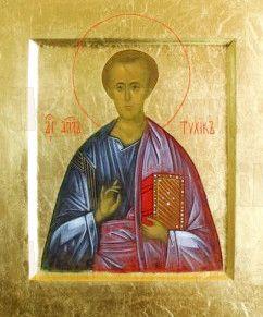 Тихик, апостол от 70-ти (рукописная икона)