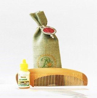 Арома набор для сухих волос (расчёска+ масло)