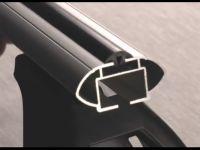 Багажник на крышу Mazda 3 (BK) 2003-09, Lux, аэродинамические  дуги (53 мм)