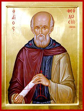 Феодосий Сийский (рукописная икона)