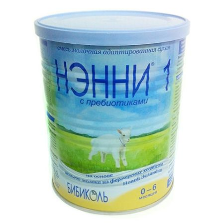 НЭННИ 1 сухая адаптир. смесь с пребиотиком 800г. с 0 до 6 месяцев - ДМ