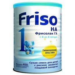 Friso гипоаллергенная Фрисолак 1 ГА с DHA/ARA (0-6 мес.) 400г