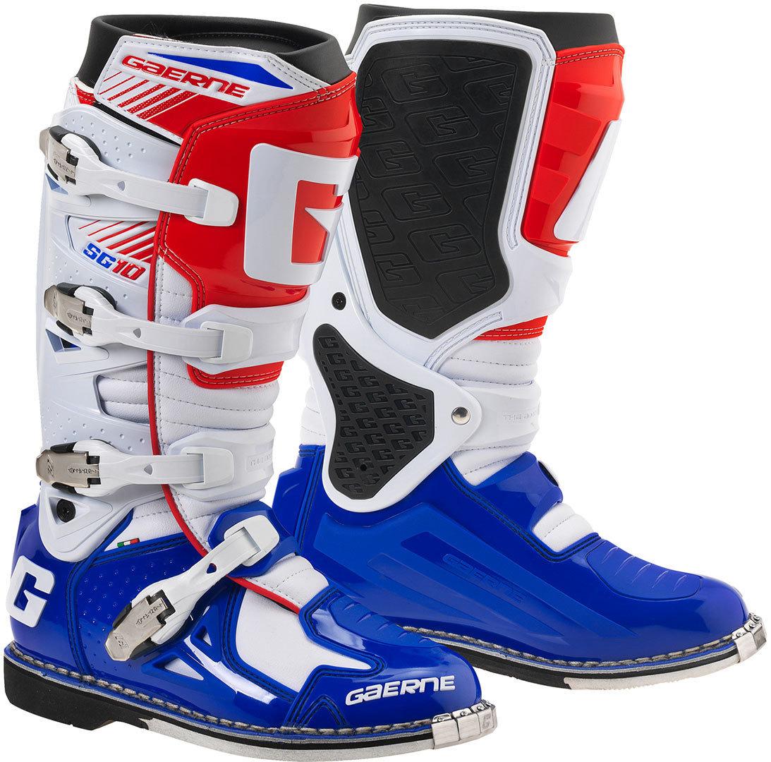 Gaerne - SG-10 мотоботы, белo-сине-красные