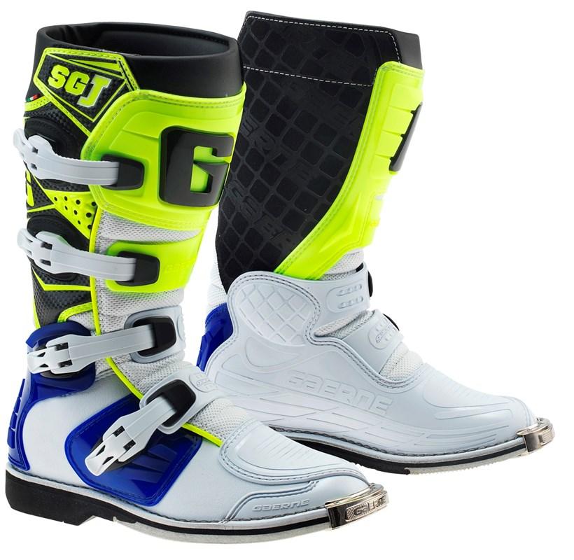 Gaerne - SG-J мотоботы, бело-сине-желтые