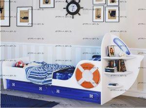 Кровать Яхта-1 МДФ (80х190)