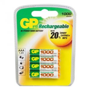Аккумулятор GP AAA 1000 mAh (4 шт.)