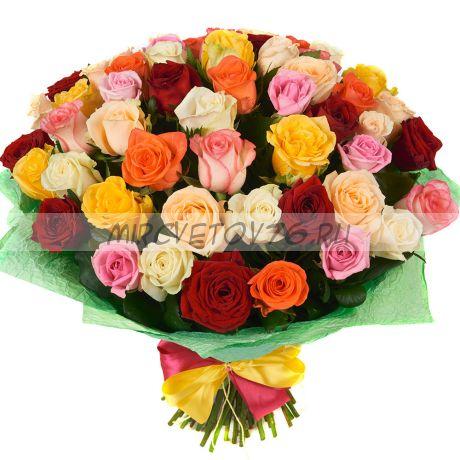 """Букет """"51 разноцветная роза"""""""