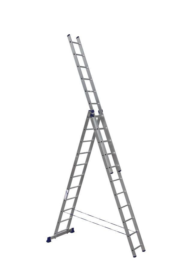 Лестница - стремянка  3-х секц.3*11 (3*3,1/7,02/5,04м 16,1кг) алюм