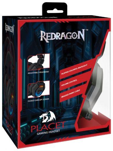 Мониторные наушники с микрофоном игровая гарнитура Placet Redragon(2.2 метра)