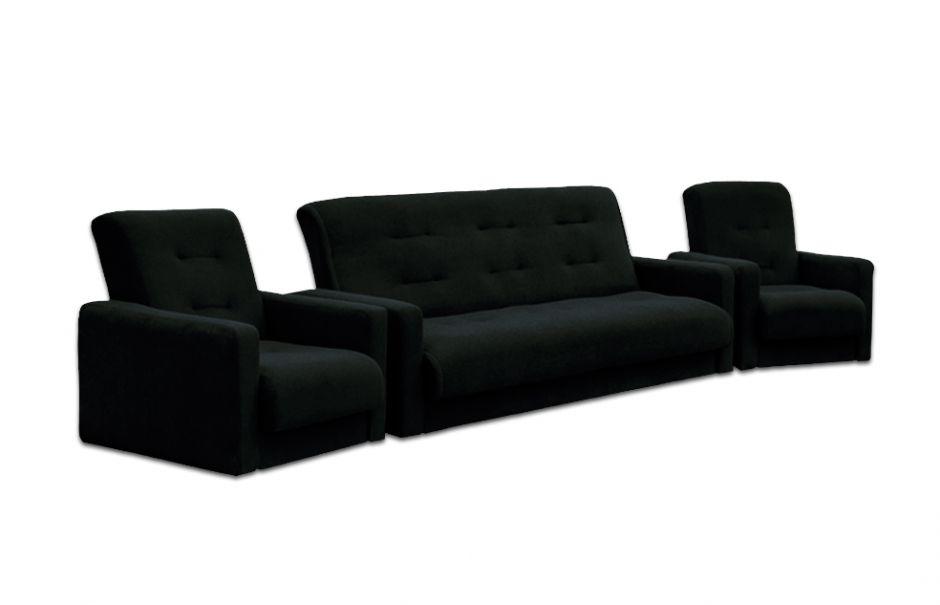 Комплект диван и два кресла Милан черный