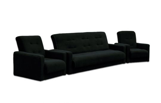 """Комплект диван и два кресла """"Милан"""" черный"""