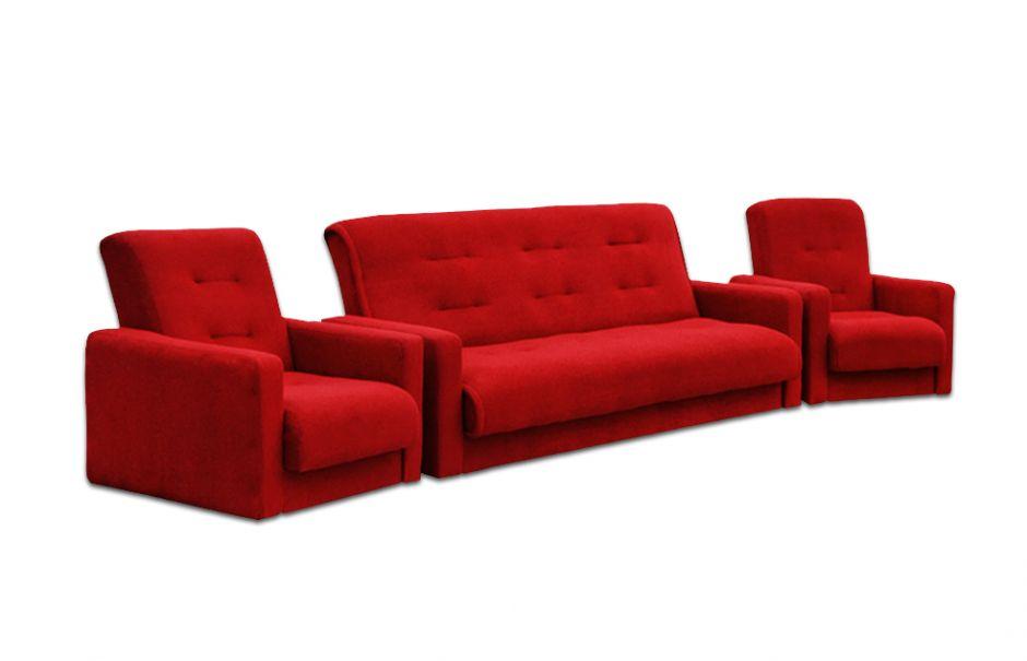 """Комплект диван и два кресла """"Милан"""" красный"""