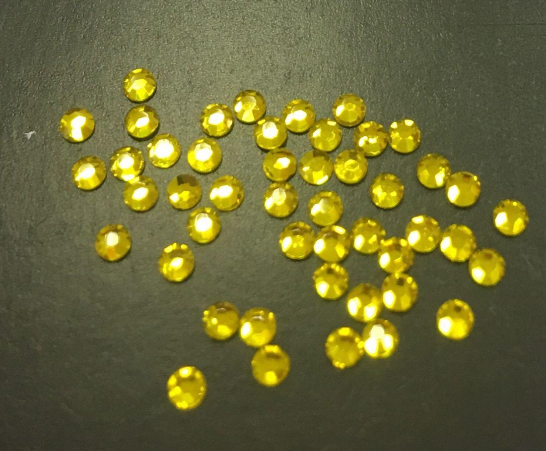 Стразы SS5 стекло плоские (лимонные) уп/50шт
