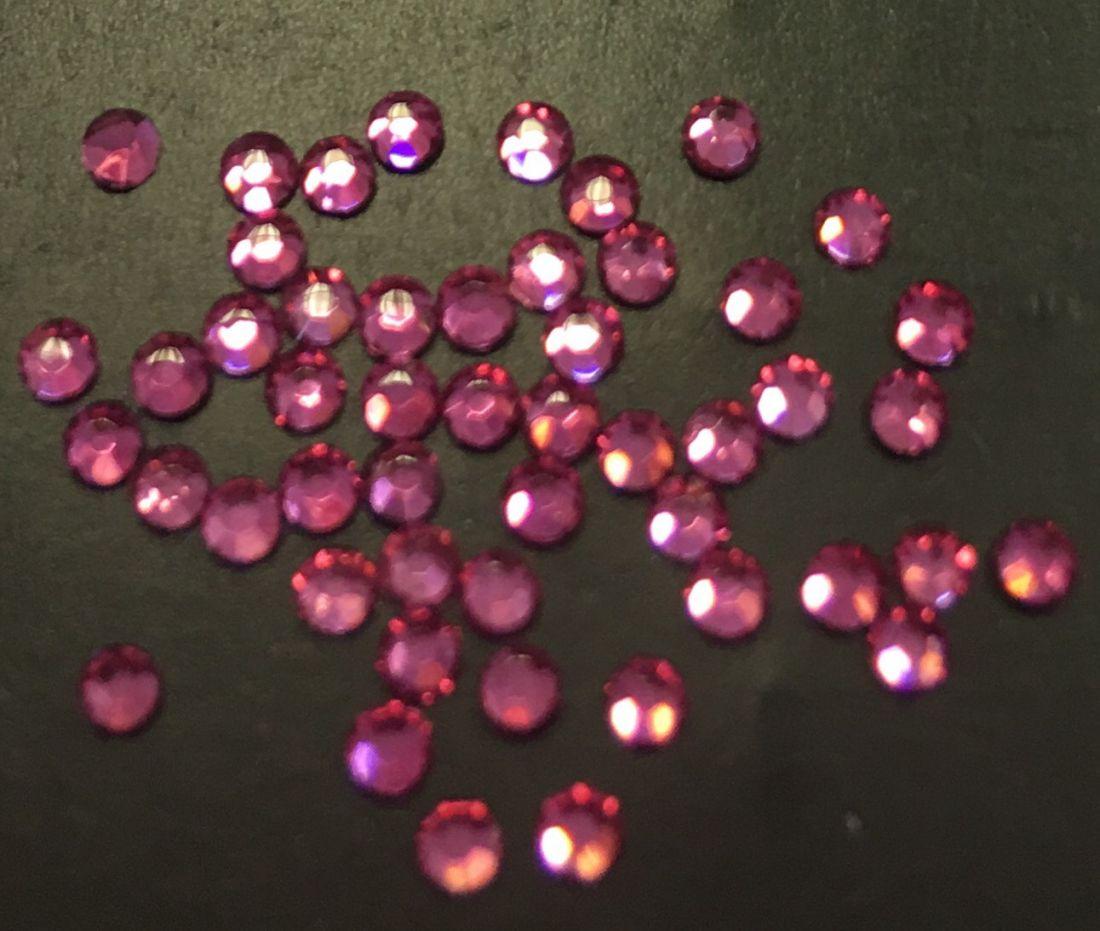 Стразы SS5 стекло плоские (розовые) уп/50шт