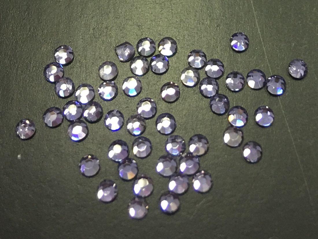 Стразы SS5 стекло плоские (серо-фиолетовые) уп/50шт