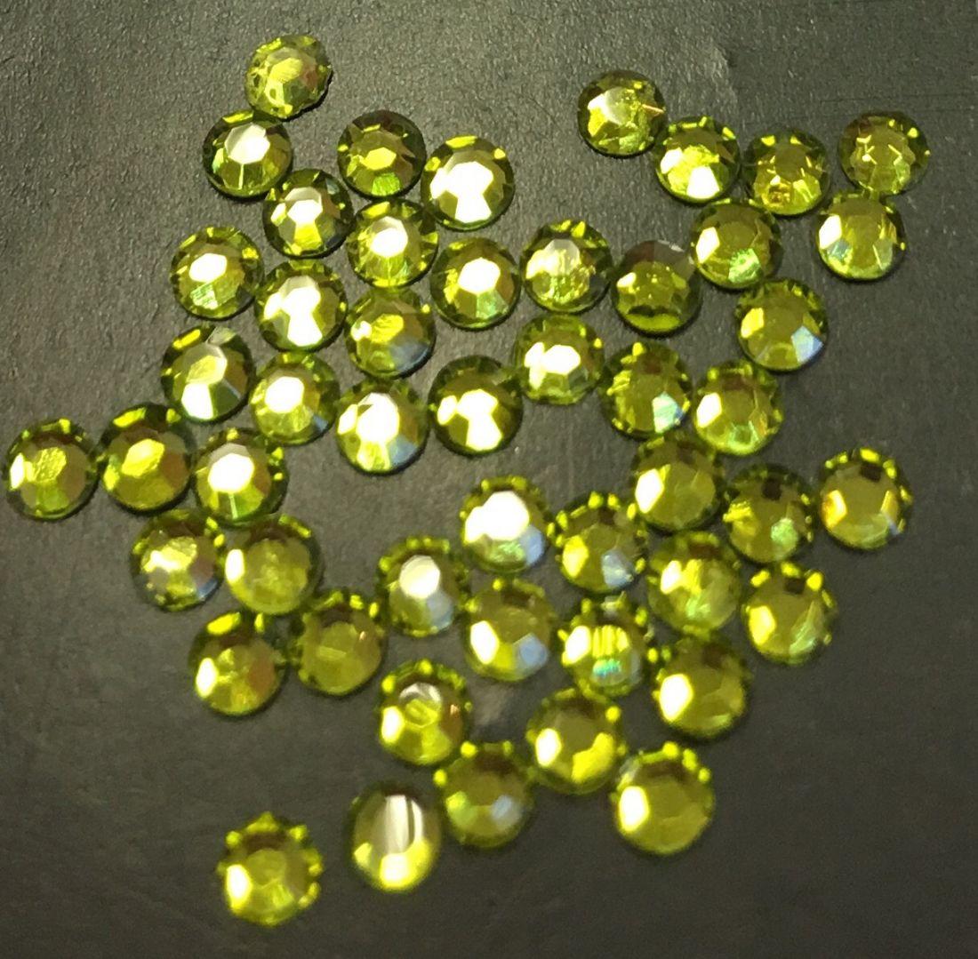 Стразы SS8/2,42мм стекло плоские (оливковые 08) уп/50шт