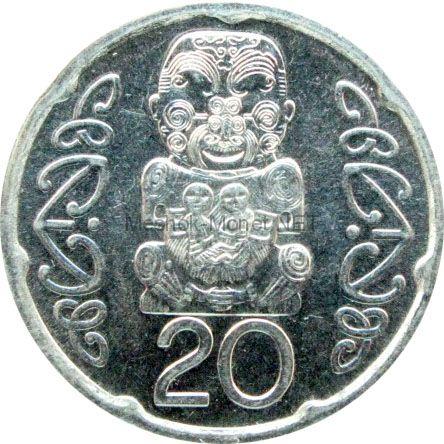 Новая Зеландия 20 центов 2008 г.