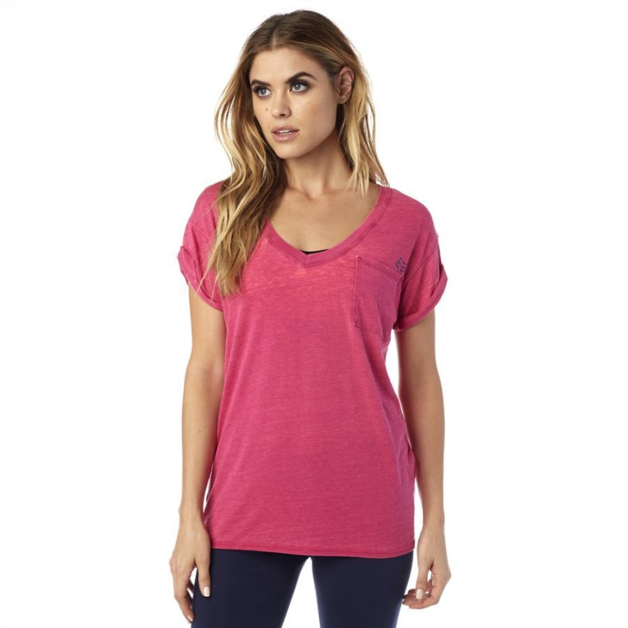 Fox - Whirlwind SS Tee Burgundy футболка женская, красная