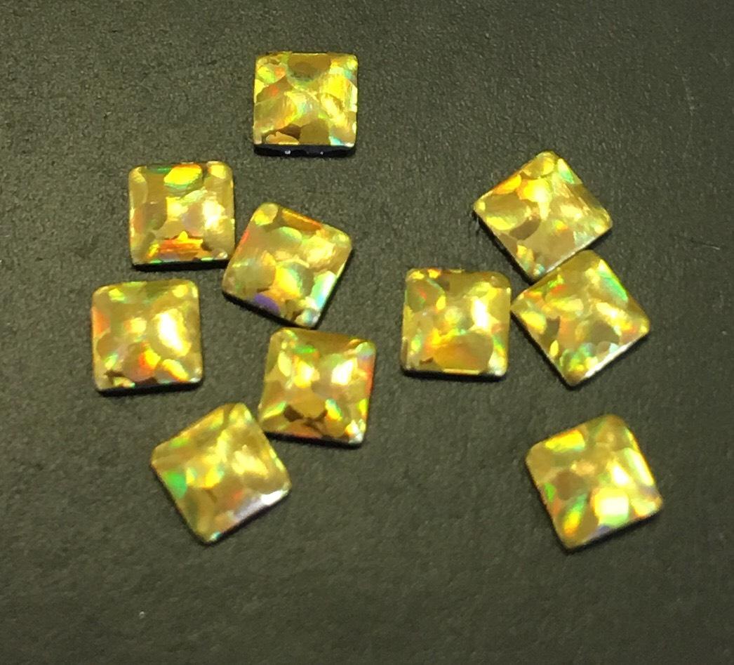 Квадрат металлический (d.3,8мм) уп/10шт. (золотот галаграмма)