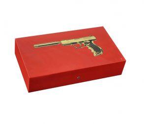 Хьюмидор Elie Bleu Gun на 110 сигар Red Gum bi-metal