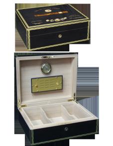 Хьюмидор Elie Bleu Медалс на 75 сигар Black Tinted Sycamore