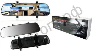 """Видеорегистр. - зеркало заднего вида экр. 2"""", micro SD, универс.крепл. TS-CAR17 (38)(1280х720 ,TF)"""