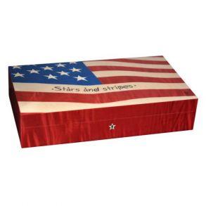 Хьюмидор Elie Bleu Флаг на 110 сигар звёзды и полосы USA № 47