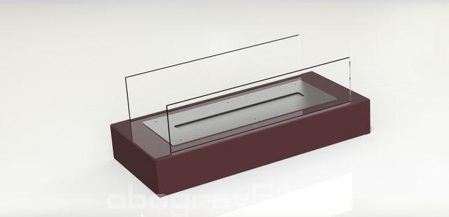 Биокамин Glass burgundy