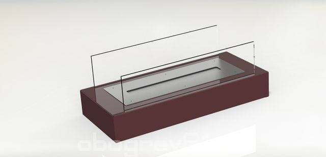 Биокамин Glass burgundy
