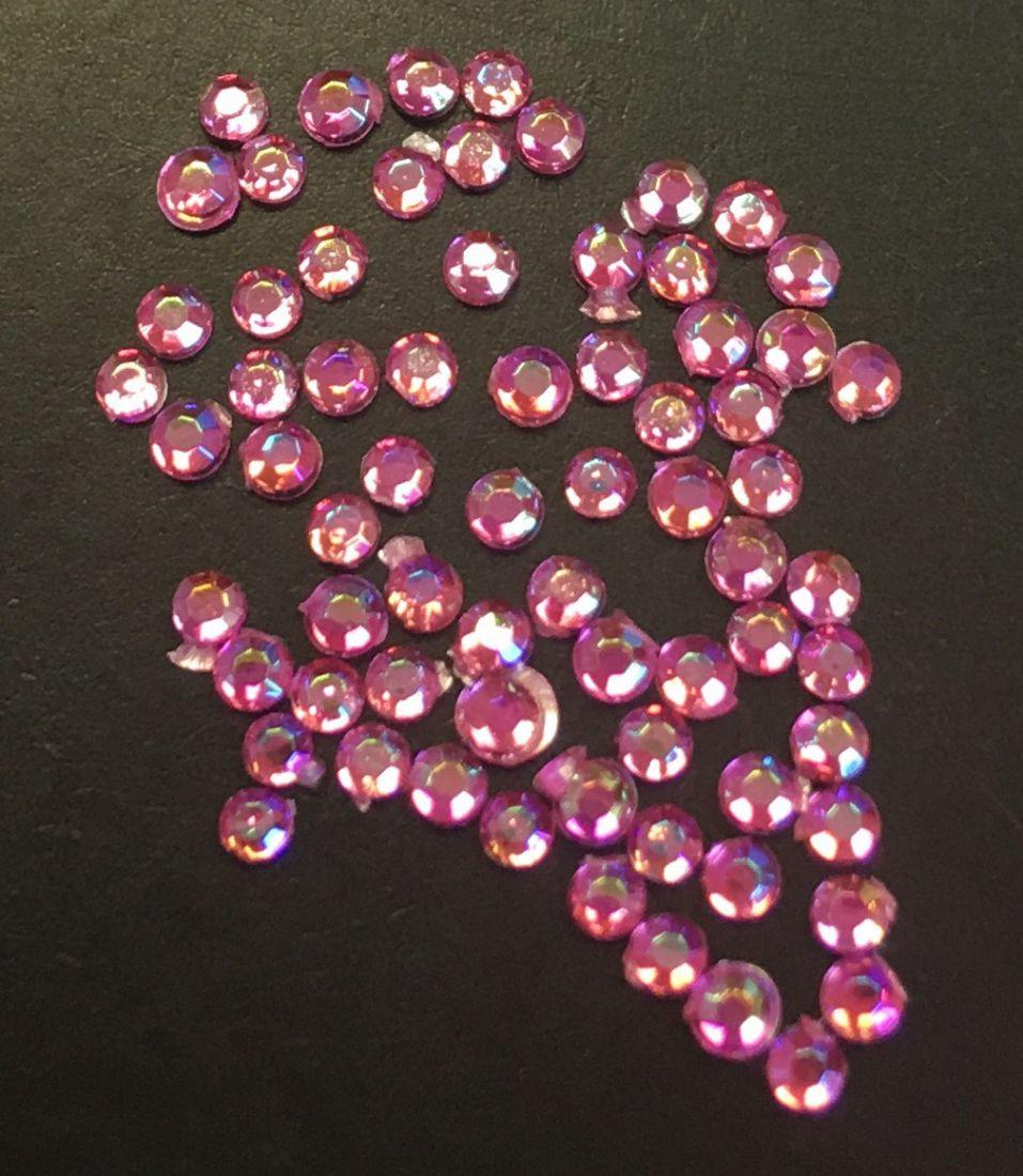 Стразы пластиковые круглые 1,5мм уп/70шт (Rose АВ)