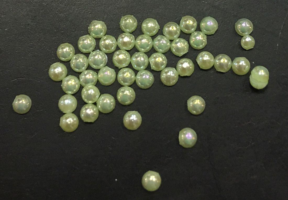 стразы полужемчужины пластиковые d.1.5 (салатовый перламутр)