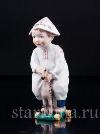 Малыш на игрушечной лошадке, Meissen, Германия, нач.20 в