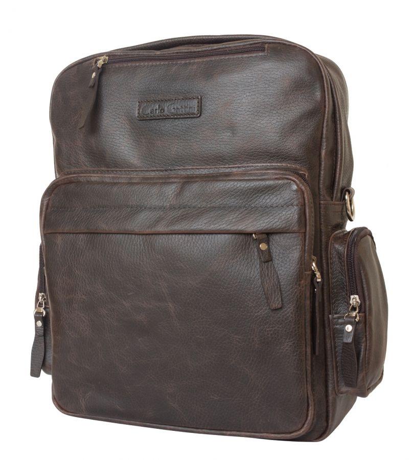 Кожаная сумка-рюкзак Carlo Gattini Reno brown