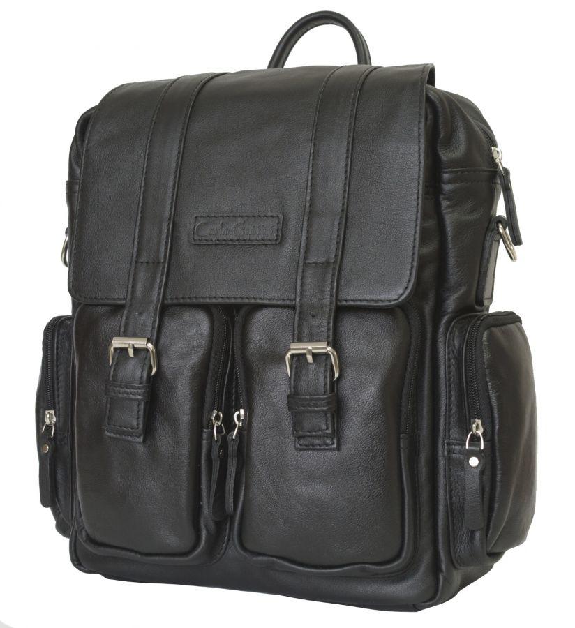 dbd241fc1376 Кожаный рюкзак-сумка Carlo Gattini Fiorentino black