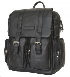 Кожаный рюкзак-сумка Carlo Gattini Fiorentino black