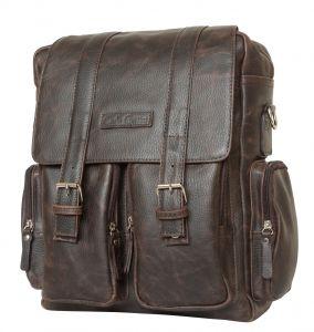 Кожаный рюкзак-сумка Carlo Gattini Fiorentino brown