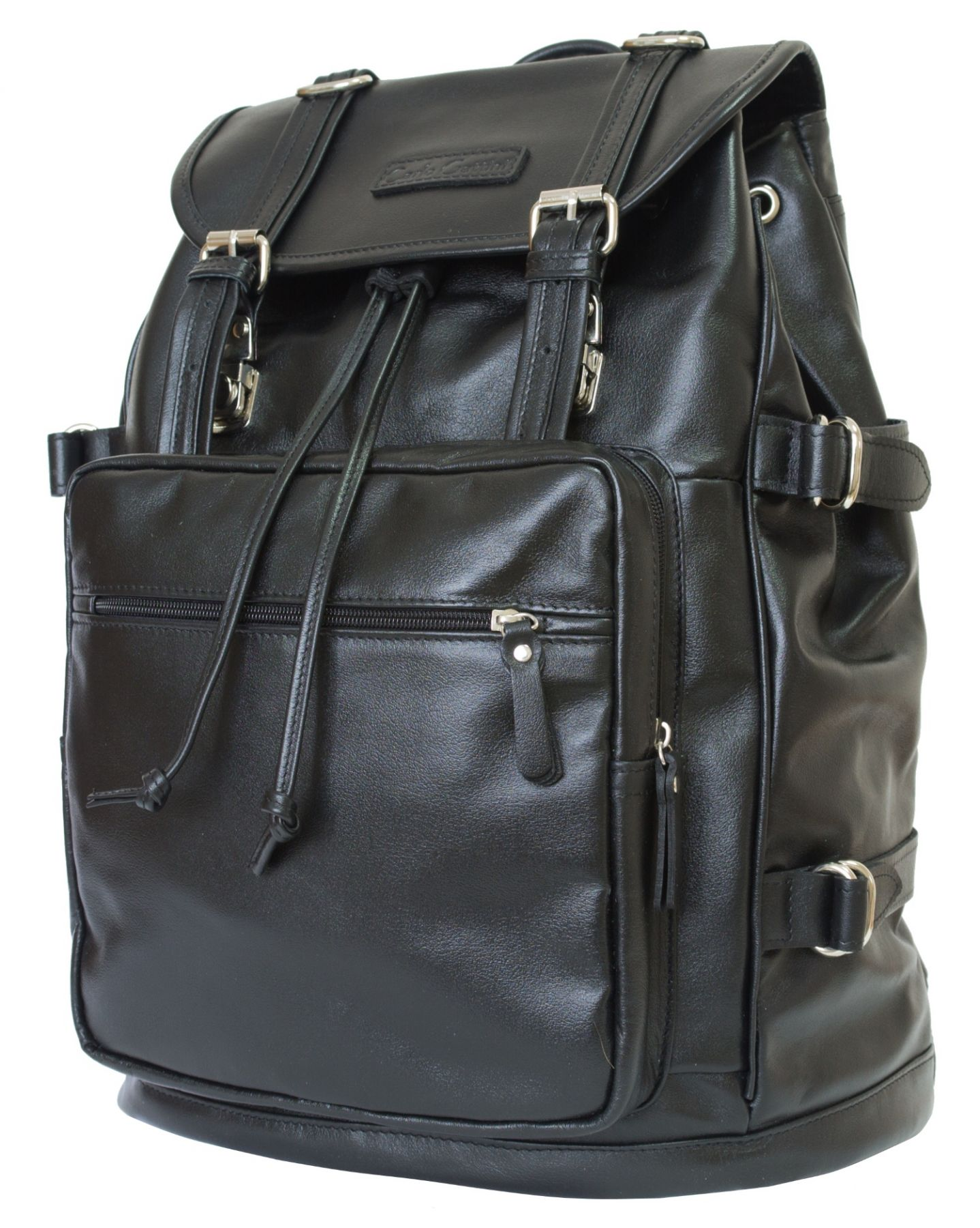 68a669b05fab Кожаный рюкзак Carlo Gattini Volturno black Хит. ‹ ›
