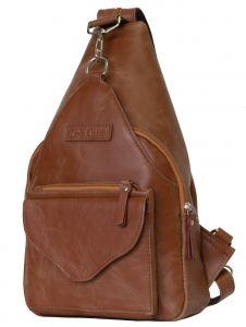 Женский кожаный рюкзак Carlo Gattini Bevera cognac