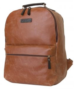 Кожаный рюкзак для ноутбука Carlo Gattini Tellaro cognac