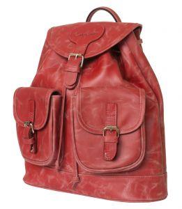 Женский кожаный рюкзак Carlo Gattini Arno red