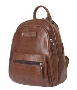 Женский кожаный рюкзак Carlo Gattini Brenta brown