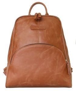 Женский кожаный рюкзак Carlo Gattini Estense cognac