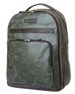 Кожаный рюкзак Carlo Gattini Montegrotto green/brown
