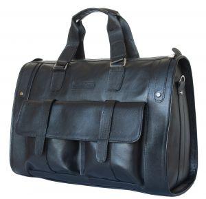Кожаная дорожная сумка Carlo Gattini Alcantara black